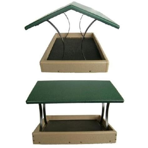 birds choice 17x16 fly thru platform green roof bird