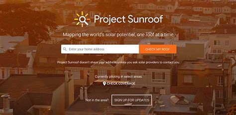 google project sunroof google project sunroof connects home solar buyers and