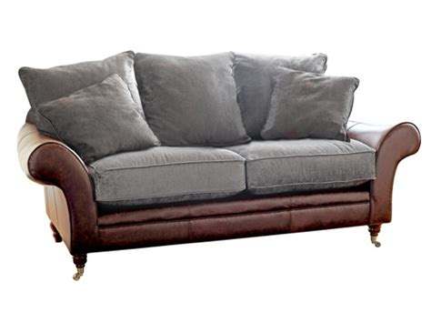 sofa with leather and fabric leather fabric sofa the atlanta the sofa company