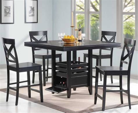 black dining room set black counter height dining room set