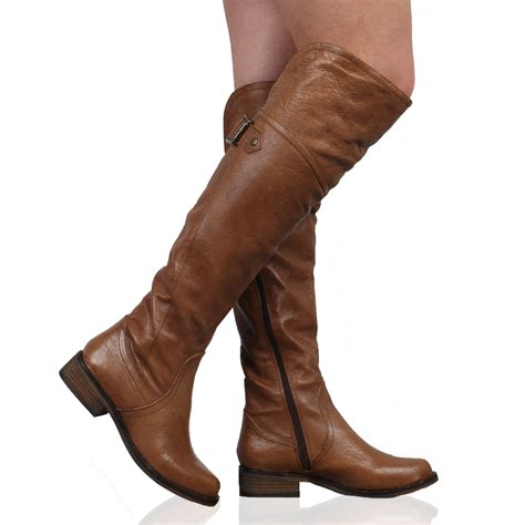 new dune trooper womens brown leather casual