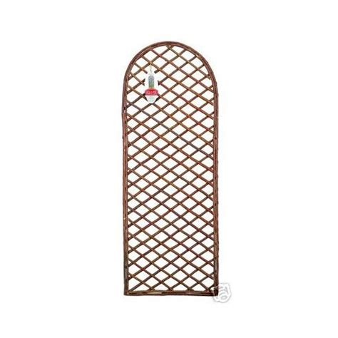 Arched Trellis Panels Willow Trellis Panel With Curved Top Arched Wooden Planter