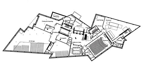 floor plan of a museum gallery of denver art museum studio libeskind 34