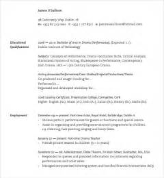 fashion resume templates sle fashion cv template 7 free documents in