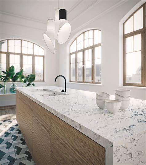 Traditional Kitchens Designs Caesarstone Expands Its Line Up Of Marble Inspired Designs