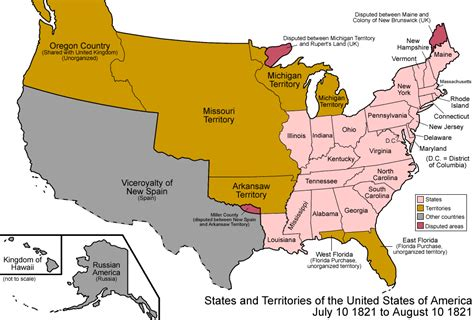 map of united states showing individual states 036 states and territories of the united states of america