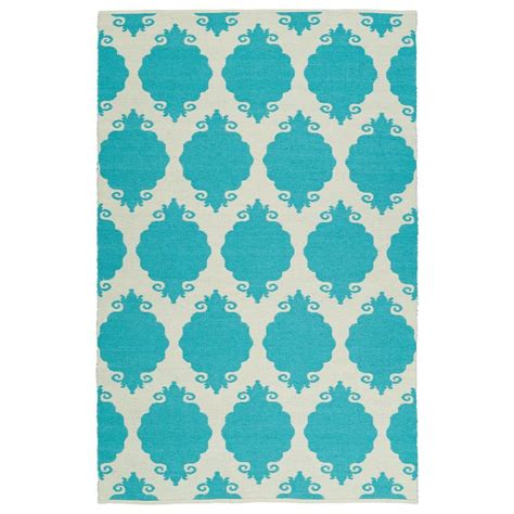 Turquoise Outdoor Rugs Kaleen Brisa Turquoise 8 Ft X 10 Ft Indoor Outdoor Reversible Area Rug Bri01 78 810b The