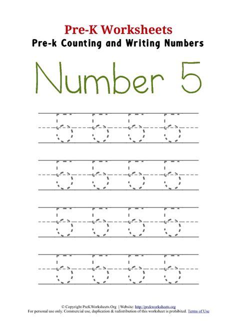 Printable Tracing Number 5 | writing number 5 worksheet pre k worksheets org