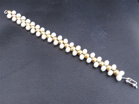 pulseras hechas a mano de cuero pulseras en perlas y cristales hechas a mano 7 000 en