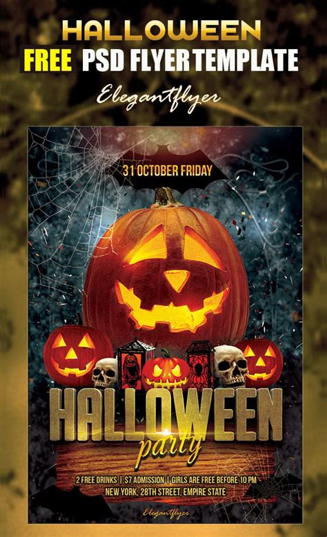 halloween templates for flyers free 10 free psd halloween party flyer designs freecreatives