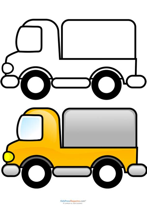 coloring page delivery truck pin coloring page delivery van img 3088 on pinterest