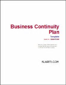 business continuity plan 48 pg ms word 12