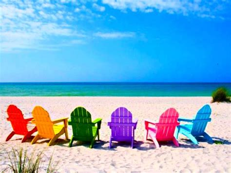 colorful beaches colorful adirondack chairs neon summer