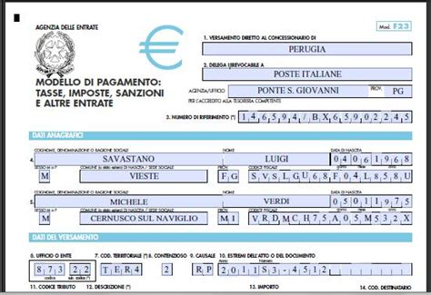 ufficio registro firenze come compilare f23 lettera43 it