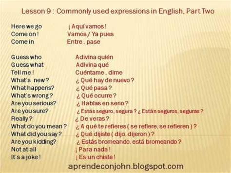 preguntas mas comunes en ingles con pronunciacion frases cotidianas en ingl 233 s parte 2 youtube