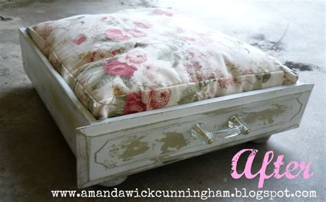 kaleidoscope of colors dresser drawer to shabby chic dog bed