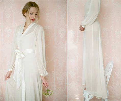 Bridal Robes by Isolde Poet Sleeve Chiffon Robe Bridal Robe In