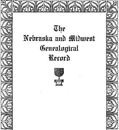 marriage records lincoln ne nebraska and midwest genealogical record vol i