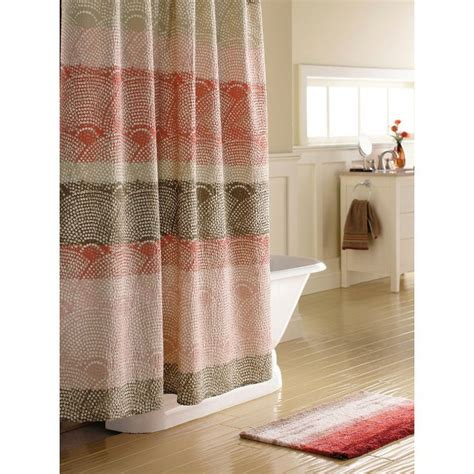 dot shower curtain threshold scallop dot shower curtain for the home