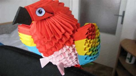 origami 3d parrot tutorial 3d origami parrot youtube