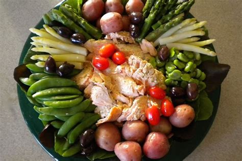 ina garten nicoise spring vegetable and salmon nicoise platter recipe on food52