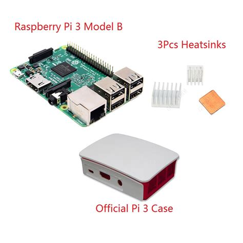 raspberry pi 3 heat sinks 3 in 1 raspberry pi 3 model b official case heatsinks