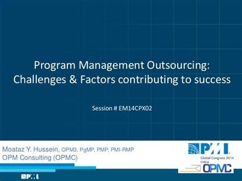program management challenges program management outsourcing challenges factors