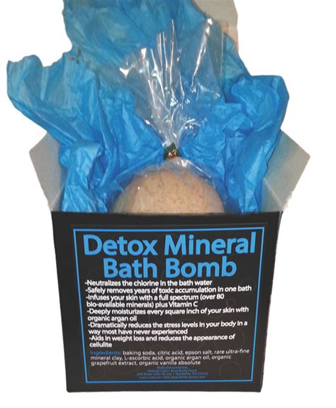Detox Mineral Bath Bomb detox your bathbomb mineral bath bomb