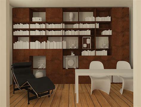 librerie a mestre studio architettura zanatta libreria in acciaio corten sm