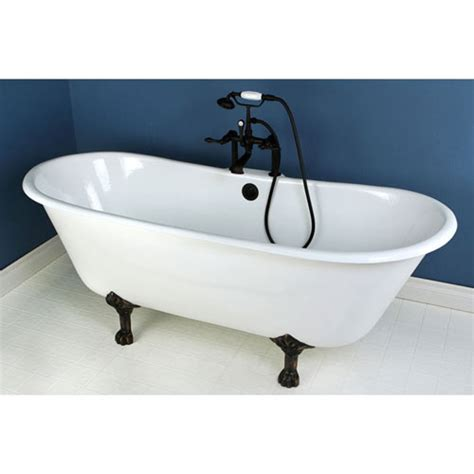 Bronze Bathtub by 67 Quot Cast Iron Slipper Clawfoot Tub And Rubbed Bronze