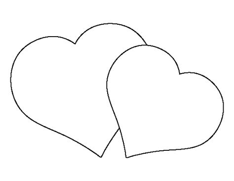 double heart coloring page double heart pattern use the printable outline for crafts