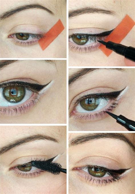 eyeliner tutorial with marker cat eyes tutorial eyeliner pen beauty pinterest