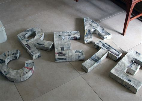 diy tutorial paper mache 3d letters a sharper focus