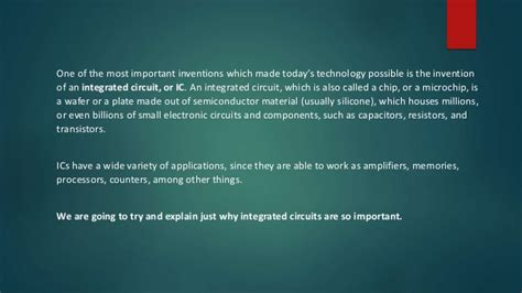 importance of integrated circuits to the electronic industry importance of the integrated circuit 28 images introduction this course is basically about