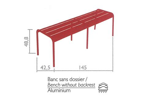 Banc Fermob Luxembourg by Banc Luxembourg Fermob