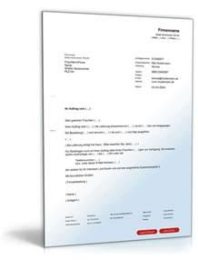 Brief Angebot Immobilie Auftragsbest 228 Tigung An Kunden Editierbares Muster Downloaden