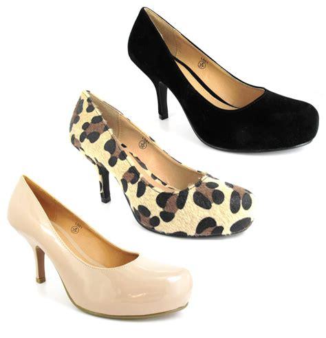 medium high heels womens black leopard 3 inch medium high heel