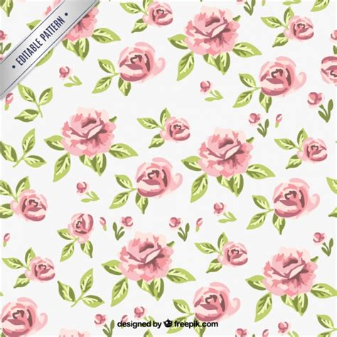 download pattern rose retro roses pattern vector free download