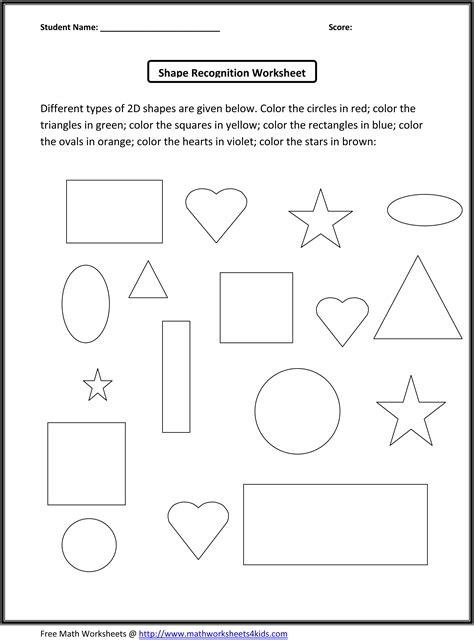 worksheets for preschool kindergarten math worksheets