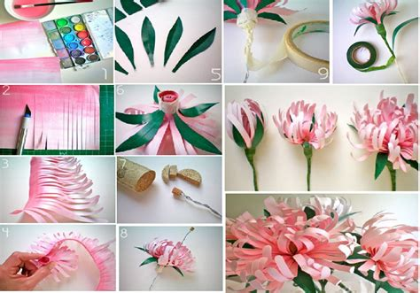 paper craft flower ideas diy paper flower craft our daily ideas
