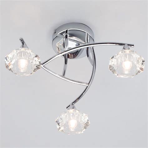 semi flush ceiling lights uk edvin 3 light bathroom semi flush ceiling light chrome