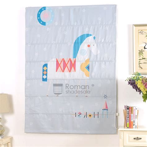horse patterned roller blinds decorative horse pattern fabric roman blinds for bedroom