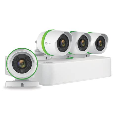 ezviz home security system 4 weatherproof hd 720p