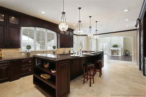 kitchens with dark wood cabinets pictures of kitchens traditional dark wood nearly