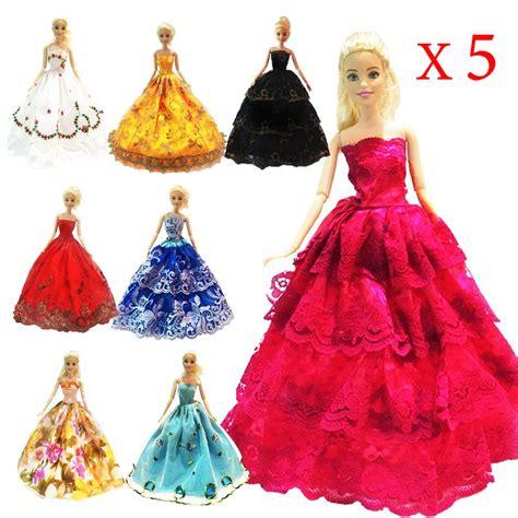 Handmade Fashion - 5 pcs high quality fashion handmade clothes dresses grows