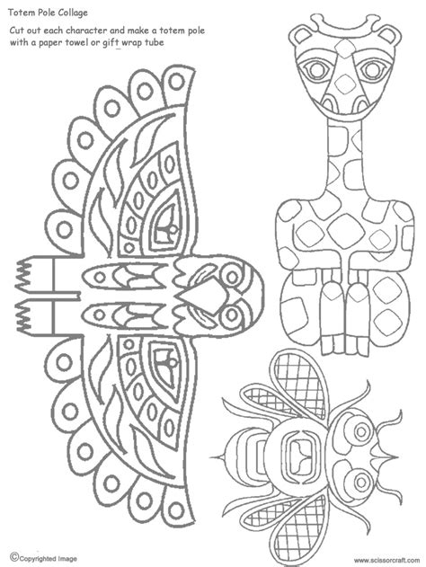 totem pole design template 7 best images of printable totem pole templates totem