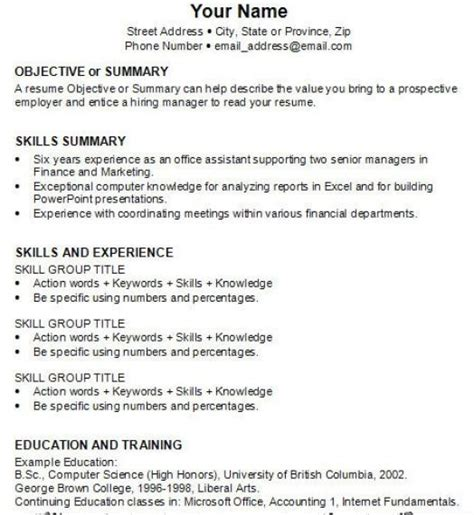 how to write your resume the best letter sle