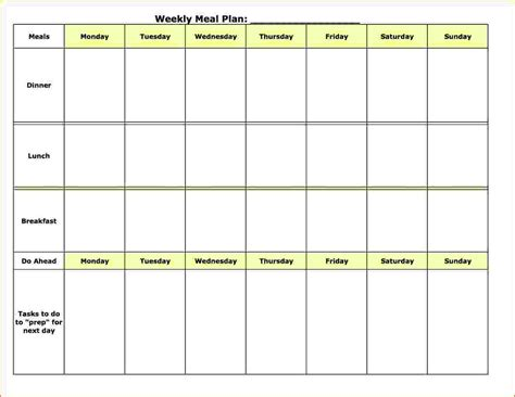 weekly menu template word monthly menu templates for microsoft word best and
