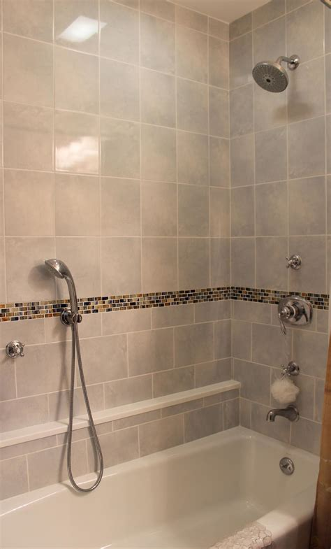 Tile Shower With Glass Border New Jersey Custom Tile Bathroom Tile Designs For Showers