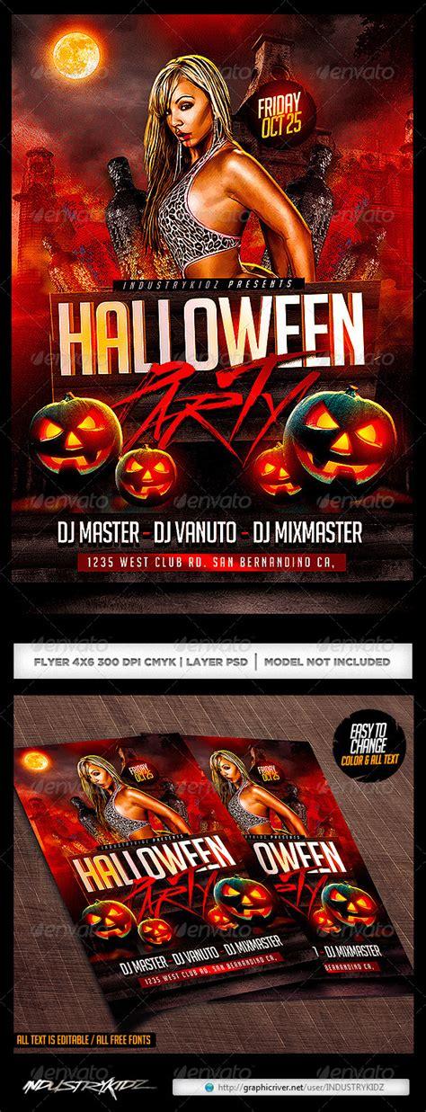 halloween party flyer template psd by industrykidz